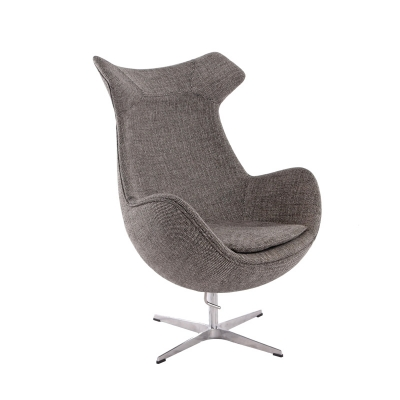 New Design Swivel Metal Base Fabric Egg Chair Canvas Modern Custom Made Lobby And Reception Fiberglass