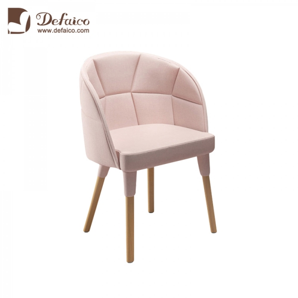 Terrific Light Pink Accent Chair In Living Room Hotel Use Solid Wood Bralicious Painted Fabric Chair Ideas Braliciousco