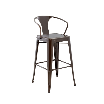 Wide Square Seat Bar Plastic Chair With Armrest For Club Outdoor Lobby