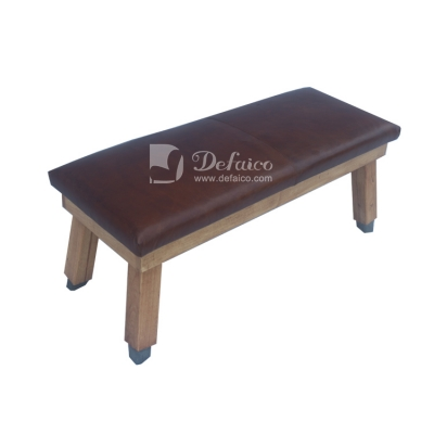 Vintage leather saddle stool antique real leather furniture Long saddle stool Bench