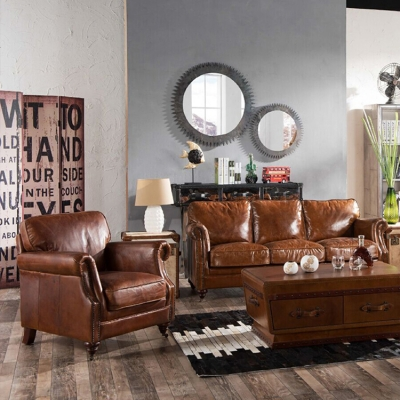Chesterfield Genuine Leather Sofa